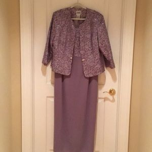 Long gown with jacket, spots should come clean